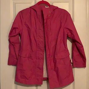 Girls Rain Coat Size 8 Pink GAP